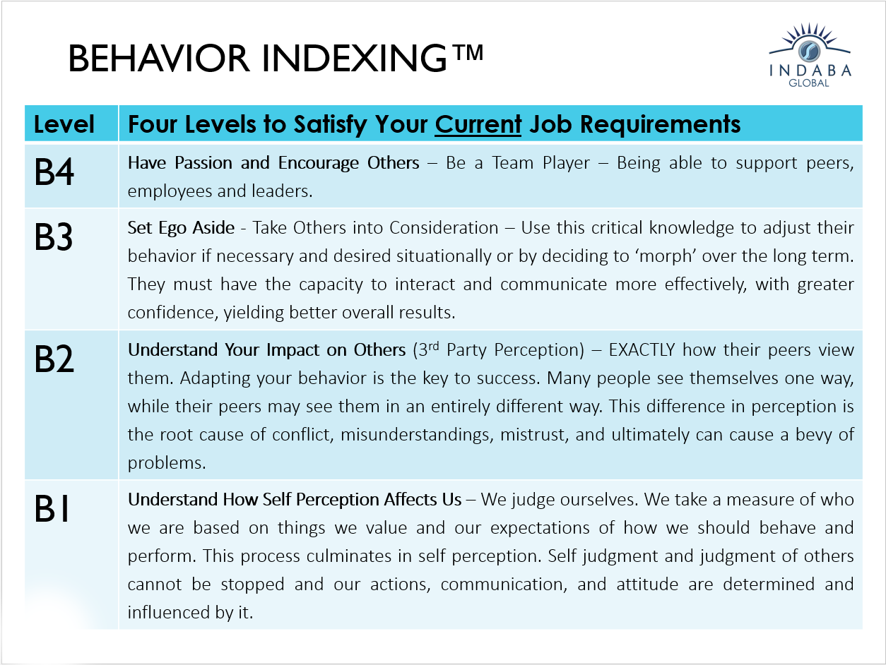assess your companies employees performance and behavior behavior indexing