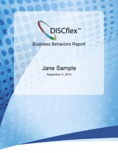 Get your DISC scores in our DISCflex Business Behavior Report