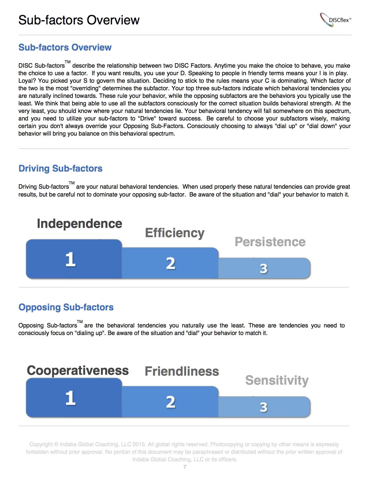 Sub-factors Overview