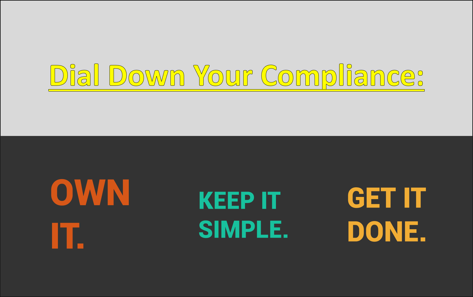 Dialing Down Compliance